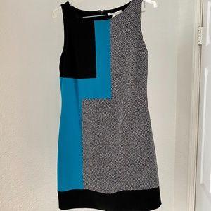 WHBM Ponte Tweed Colorblock Dress 2